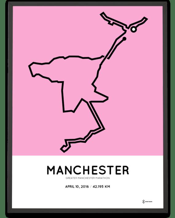 2016 Mancheste greater marathon course poster