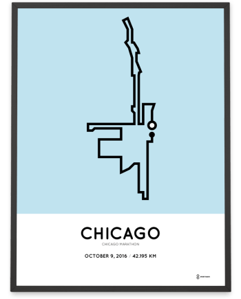 2016 chicago marathon course print