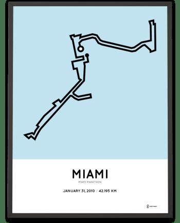 2010 miami marathon course poster