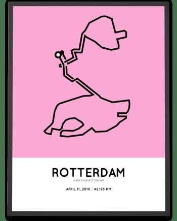 2010 rotterdam marathon parcours poster