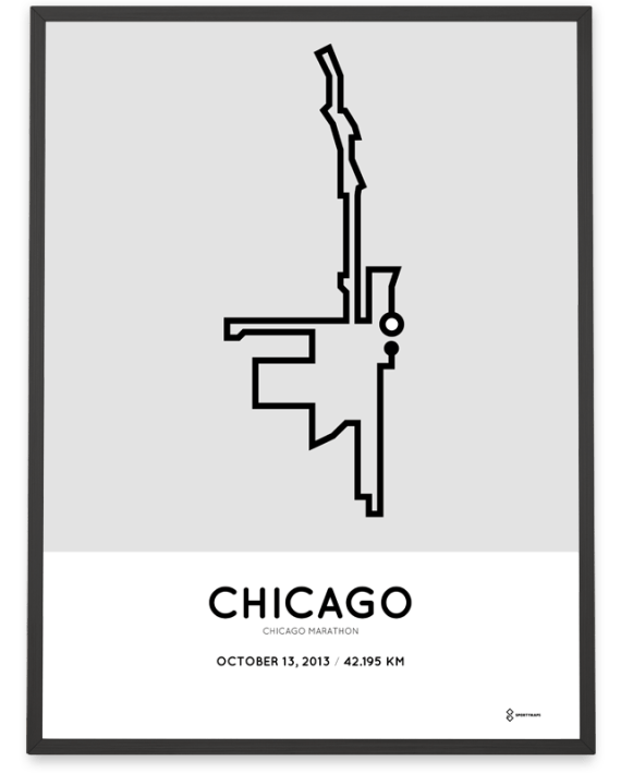 2013 chicago marathon course print