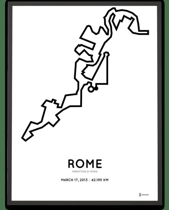 2013 Rome Marathon course poster