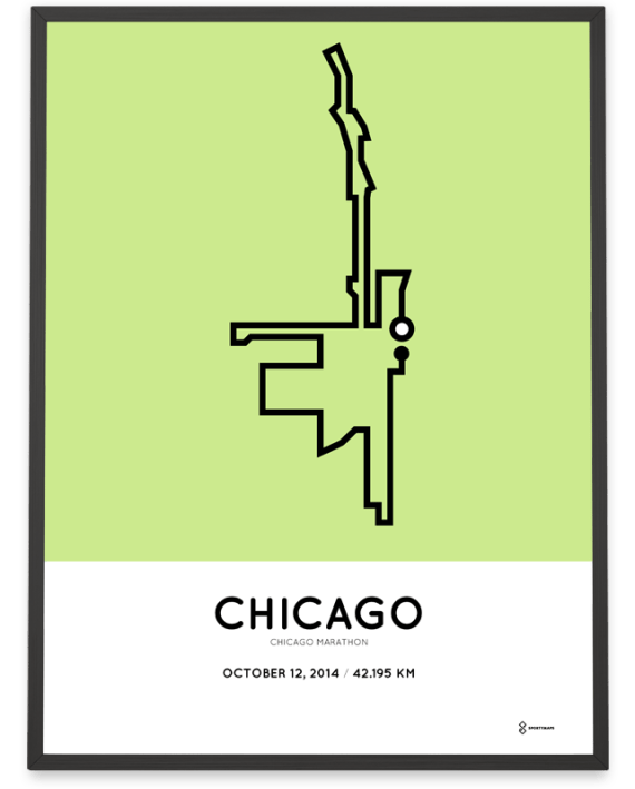 2014 chicago marathon course print