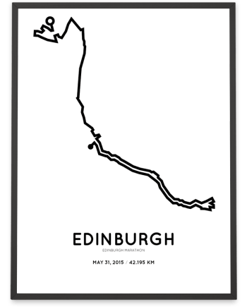 2015 edinburgh marathon course print