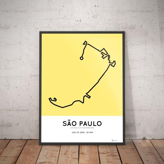 2016 sao paolo city half marathon parcours print