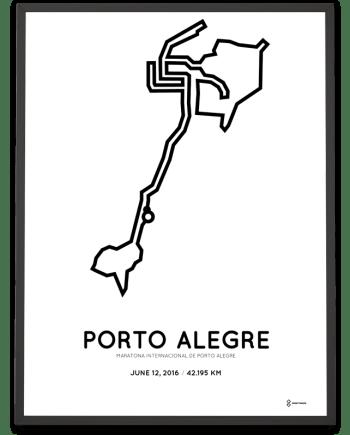 2016 porto alegre marathon course poster