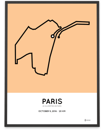 2016 Paris 20km coursemap print