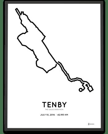 2016 The Wales marathon course print