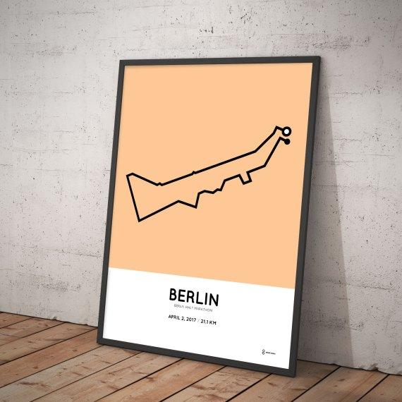 2017 Berlin half marathon route print