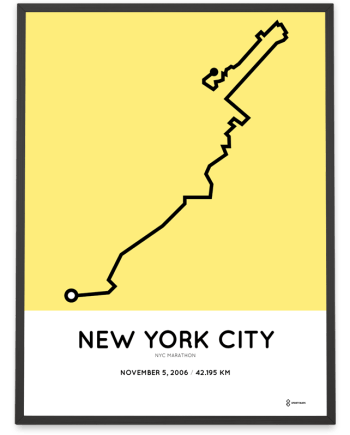 2006 New York City marathon course print