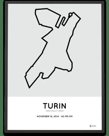 2014 Maratona di Torino route poster