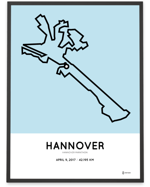 2017 Hannover marathon route poster