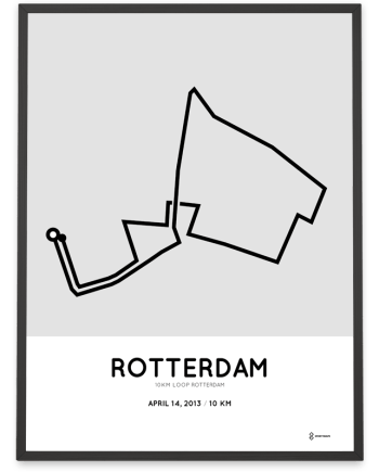 2013 Rotterdam 10km loop parcours poster