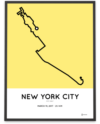 2017 New York City hal marathon course poster