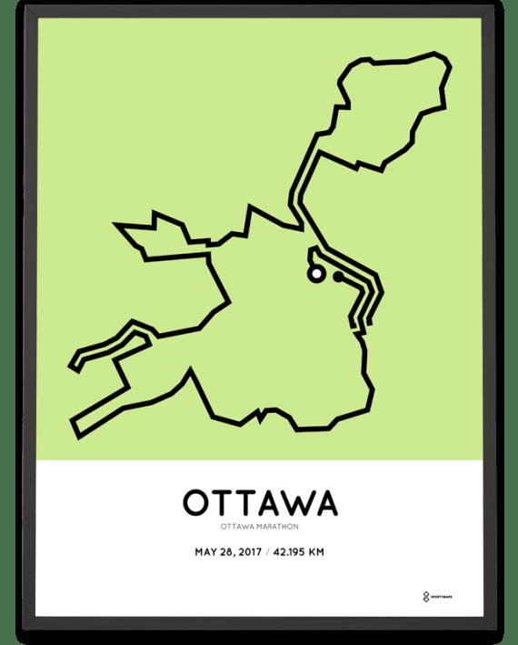 2017 Ottawa marathon course print