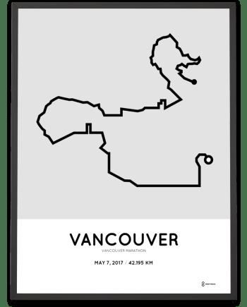 2017 Vancouver marathon course poster