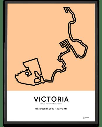 2009 Royal Victoria marathon course poster