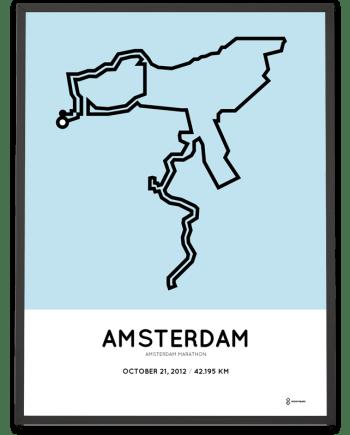 2012 Amsterdam marathon route print