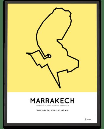 2014 Marrakech marathon parcours poster