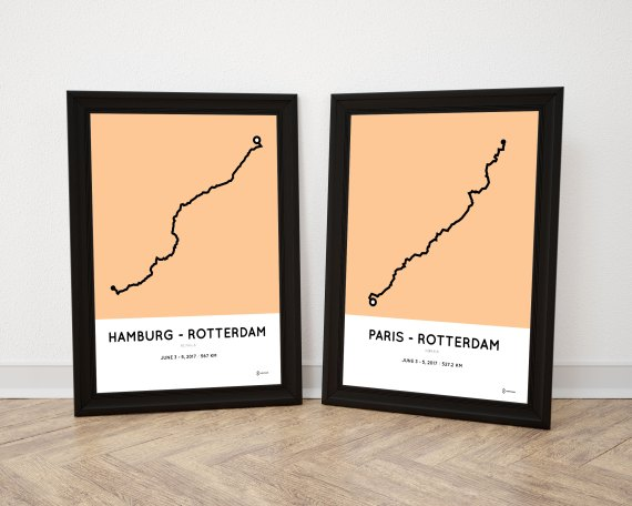 2017 Roparun route posters