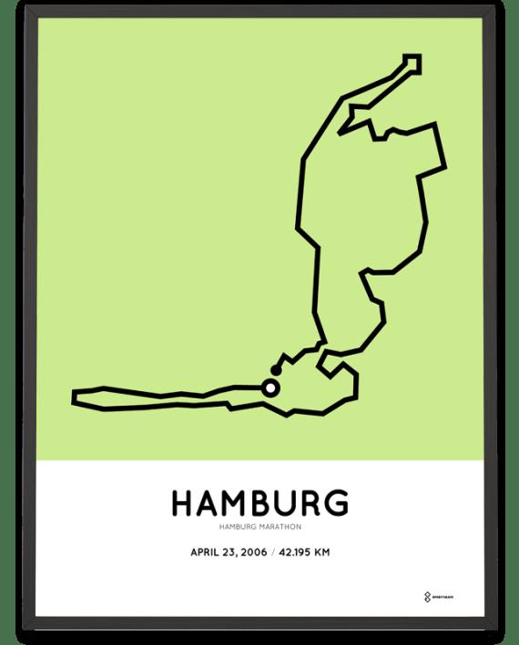 2006 Hamburg marathon course poster