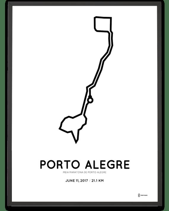2017 Porto Alegre half marathon course poster