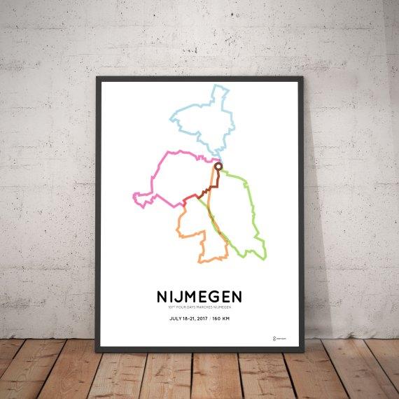 2017 Nijmegen Vierdaagse 160km parcours poster