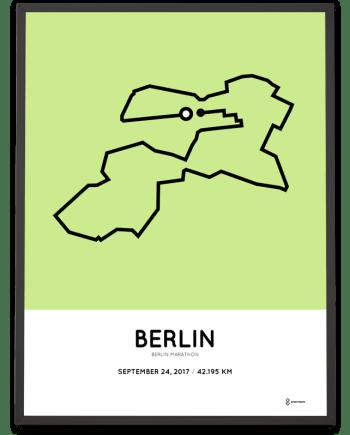2017 Berlin marathon strecke poster