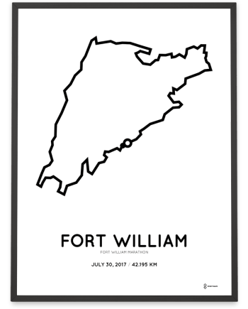 2017 Fort William marathon course poster
