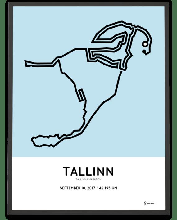 2017 Tallinn marathon course poster