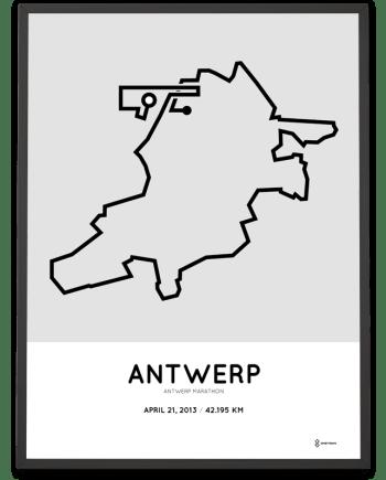 2013 Antwerp marathon parcours poster