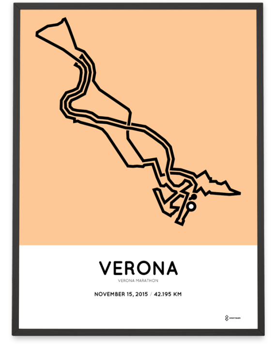 2015 Verona marathon course poster