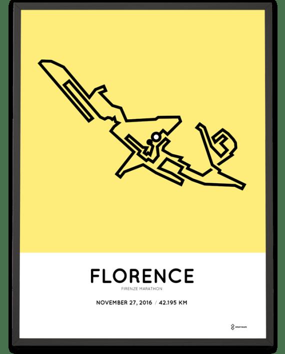 2016 Florence Firenze marathon course poster