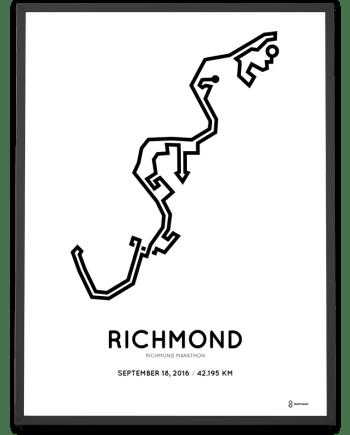 2016 Richmond runfest marathon course print