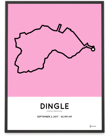 2017 Dingle marathon course poster