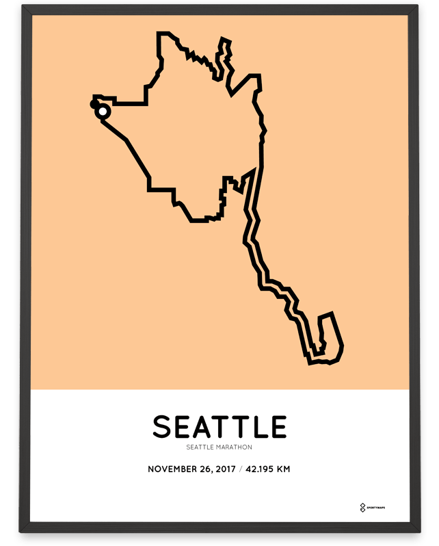 2017 Seattle Marathon print – Sportymaps