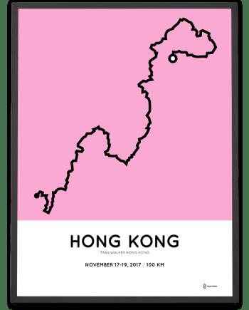 2017 Trailwalker hong kong course poster