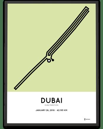 2018 Dubai marathon map poster