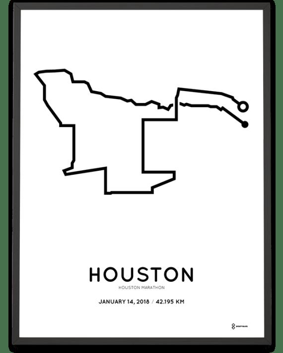 2018 Houston marathon course poster