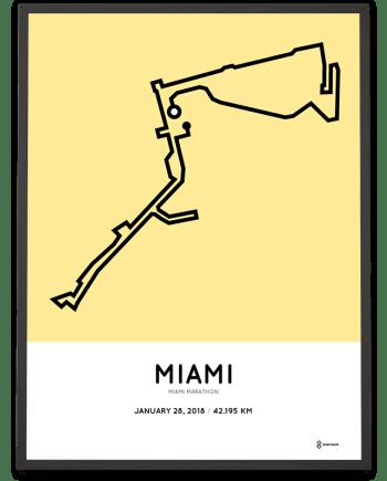 2018 miami marathon course poster