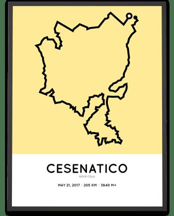 2017 Nove Colli 205km parcours poster