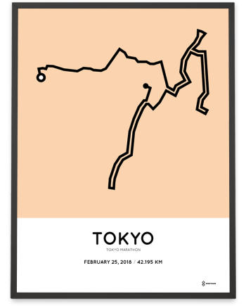 2018 Tokyo marathon course poster