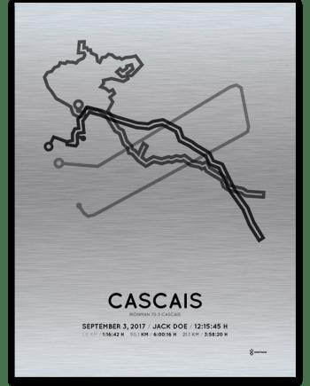 2017 Ironman 70.3 Cascais course print