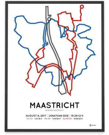 2017 Ironman Maastricht route poster