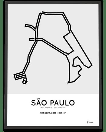 2018 Sao Paulo half marathon course poster