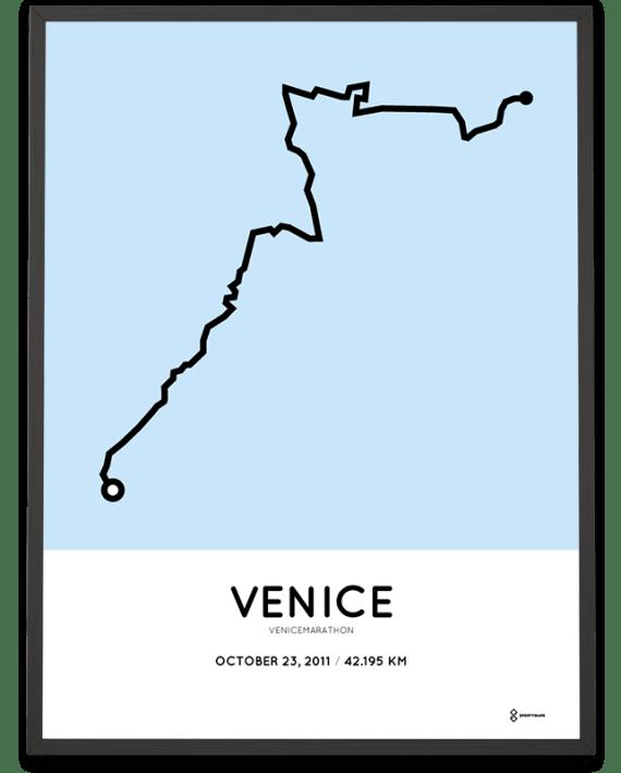 2011 Venicemarathon course print