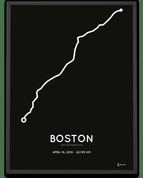 2018 Boston marathon course poster