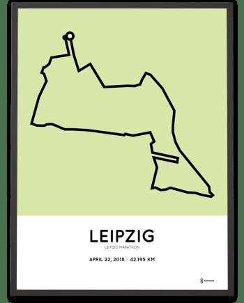 2018 Leipzig marathon course poster