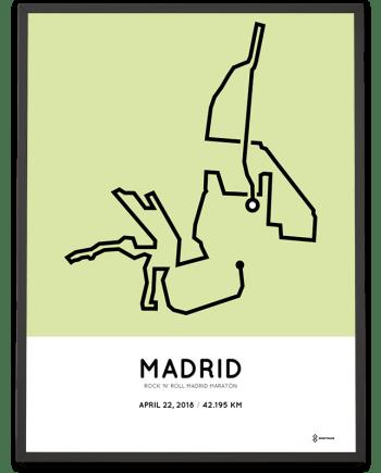 2018 Madrid marathon course print