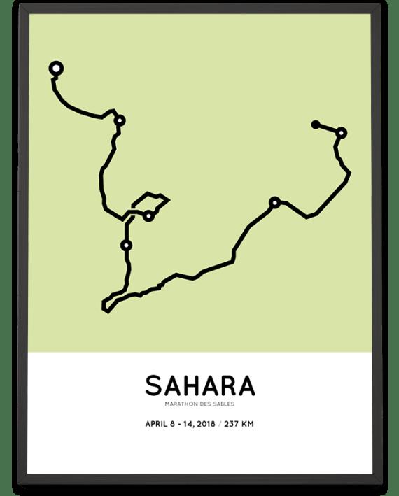 2018 Marathon des Sables route poster